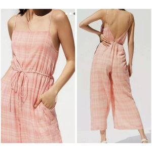 Urban Outfitters/UO NWOT Pink Jumpsuit Gingham XS